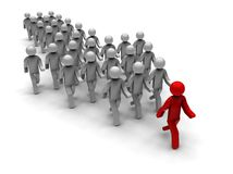 Following the Leader Path Concept Royalty Free Stock Images