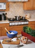 Following the recipe. Cooking preparation in the kitchen Stock Photo