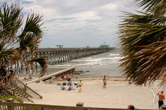Folly Beach at Charleston, SC Stock Images