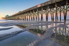 Folly Beach Fishing Pier South Carolina Stock Photography