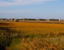 Folly Beach marsh pier Stock Photography