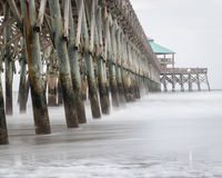Folly Beach pier in South Carolina stock photography