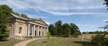 The Folly & Church at Croome Park Royalty Free Stock Photo