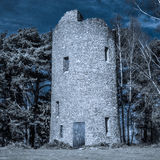 Folly Tower at the Top of Chinthurst Hill Moonlight Stock Photos