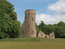 The Folly at Wimpole Hall. Folly at Wimpole built in 1768 to resemble Gothic-era ruins Stock Photo