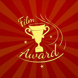 Folm award, vector typography. Film award, cinema prize logo, vector  illustration Royalty Free Stock Photography