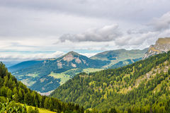 Folomites of Italy - Nature near Gardena Pass Royalty Free Stock Images