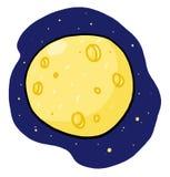 folował księżyc ilustracyjnego kolor żółty Zdjęcie Royalty Free