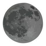 folował księżyc odosobnionego biel ilustracja wektor