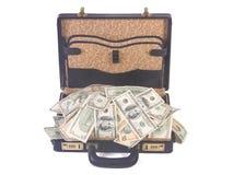folował pieniądze walizkę Zdjęcia Royalty Free