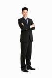 Folował Długości Pracownianego Portret Chiński Biznesmen Zdjęcie Royalty Free