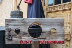 Folterinstrumente und Durchführung im Peter- und Paul-fortr Lizenzfreie Stockfotografie