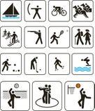 Folâtre des signes de Jeux Olympiques Photos libres de droits