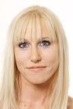 folująca blondynki twarz Fotografia Stock