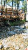 Foluszowy Potok na cidade de Zakopane Fotos de Stock