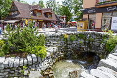 Foluszowy stream at Krupowki in Zakopane Royalty Free Stock Image