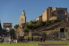 folwarczek ruin włochy Rzymu Obraz Royalty Free