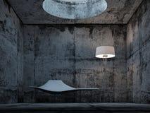 Folwarczka betonowy pokój Zdjęcia Royalty Free
