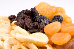 Fom droge vruchten als achtergrond Royalty-vrije Stock Foto's