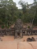 Fom the top of Ta Keo, one of the Angkor temples royalty free stock photo