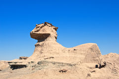 Fomation de roche connu sous le nom de Sphynx, Argentine. Image stock