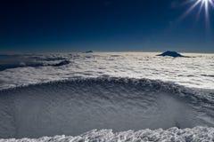 Fomation del hielo Foto de archivo libre de regalías