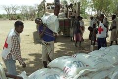 Fome de ameaça longe perto em alterações climáticas