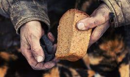 Fome e pobreza Fotografia de Stock Royalty Free