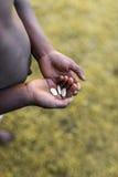 Fome e pobreza em África Foto de Stock Royalty Free