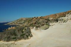 Fomm ir-rih - Malta. Fomm ir-rih Bay and Cliffs- Malta Stock Photo