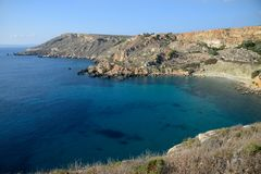 Fomm Ir-Rih fjärd, Malta Royaltyfria Foton