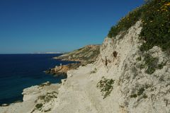 Fomm ir-rih - Malta. Fomm ir-rih Bay and Cliffs- Malta Royalty Free Stock Photography