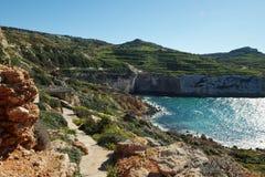 Fomm ir-rih - Malta. Fomm ir-rih Bay and Cliffs- Malta Stock Photography