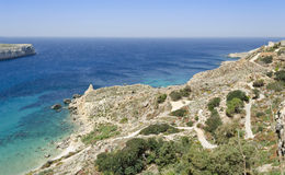 Fomm ir-rih - Malta. Beautiful coast of the Maltese islands in the northern part of the island Royalty Free Stock Image