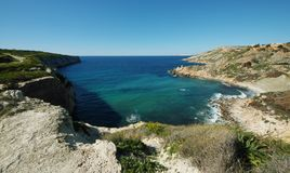 Fomm ir-rih - Malta. Fomm ir-rih Bay and Cliffs- Malta Royalty Free Stock Images