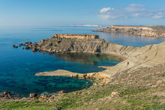 Fomm ir-Rih - Malta. Fomm ir-Rih is located in the North West coast of Malta Royalty Free Stock Image