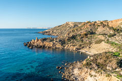 Fomm ir-Rih, Malta. Northern Coast near Fomm ir-Rih, Malta Royalty Free Stock Images