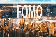 FOMO with the Manhattan, NY Stock Image
