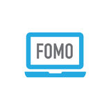 FOMO-Pictogram - Vrees om In Modern Acroniem Over te slaan - Sociaal M stock illustratie