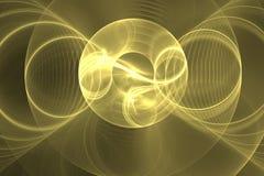 Fon amarelo do círculo do fundo Imagens de Stock Royalty Free