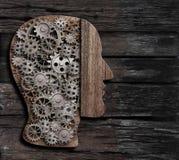 Fonction de cerveau, psychologie, mémoire ou illustration mentale du concept 3d d'activité Photo stock