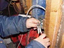 Fonctionnement d'électricien Image libre de droits