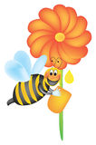 fonctionnement d'abeille illustration stock