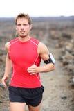 Fonctionnement d'athlète - exercice masculin de coureur photo stock