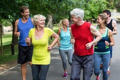 Fonctionnement d'athlètes de marathon Image stock