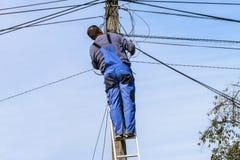 Fonctionnement d'Electrcian Photo libre de droits