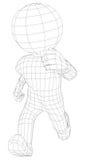 Fonctionnement d'homme de la marionnette 3d Photos libres de droits