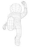 Fonctionnement d'homme de la marionnette 3d Photographie stock
