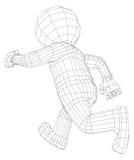 Fonctionnement d'homme de la marionnette 3d Photographie stock libre de droits