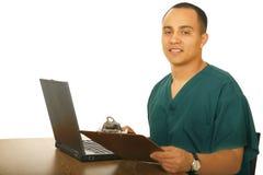 Fonctionnement d'infirmière Images libres de droits